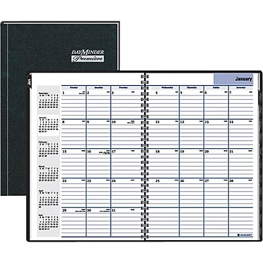 "2014 DayMinder® Hardcover Monthly Planner, 7 7/8"" x 11 7/8"""