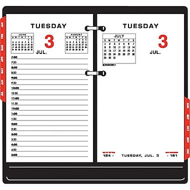 2013 AT-A-GLANCE® Daily Desk Two-Color Calendar Refill, 3-1/2in. x 6in.