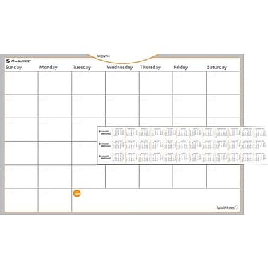 AT-A-GLANCE® WallMates™ Self-Adhesive Dry-Erase Monthly Planning Surface, 18in. x 12in.