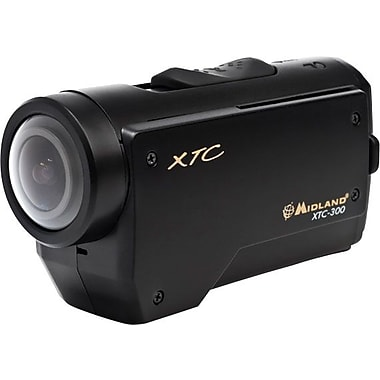 Midland XTC-300VP4 Extreme Action Wearable 1080p Video Camera, Black