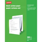 "Staples® Carbon Paper, 8-1/2"" x 11"", Black"