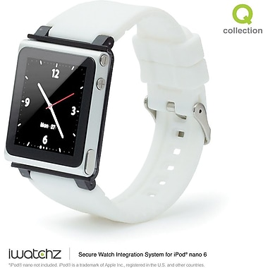 iWatchz Q Series Watchband for iPod Nano, White