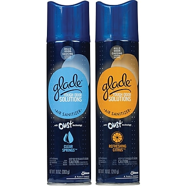 Glade® with Oust® Tough Odor Solution  Air Sanitizers