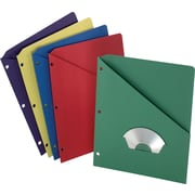 Pendaflex Essentials Slash Pocket Folders 3HOLE Assorted, 25/Pack, (ESS32940)