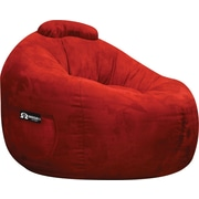 Elite Omega Faux Suede Bean Bag Lounger Chair, Lipstick