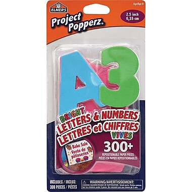 Elmer's® Projects Popperz - Bright Paper Letters and Numbers