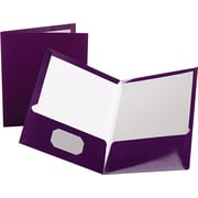 "Oxford Laminated Portfolio, High Gloss, Purple, 11"" x 8 1/2"""