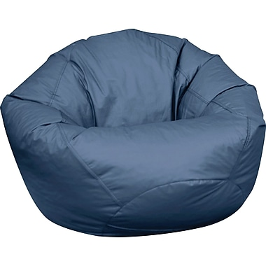 Elite Classic Large Faux Leather Bean Bag Chairs, Navy