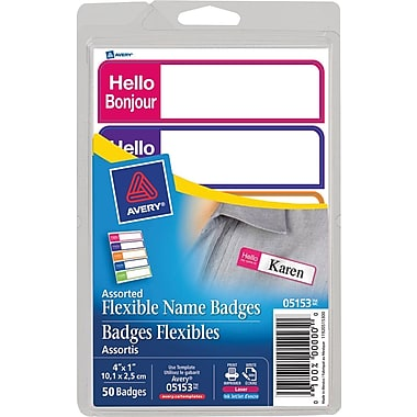 Avery® Flexible Mini Name Badge Labels,