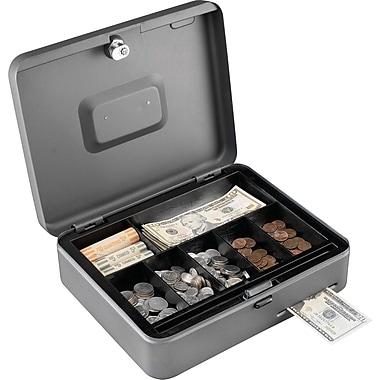 MMF Industries™ STEELMASTER® Cash Slot Security Box, Gray, 3 3/16