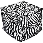 Elite Sit-E-Block Fabric Bean Bag Combination Stool/Ottoman, Zebra