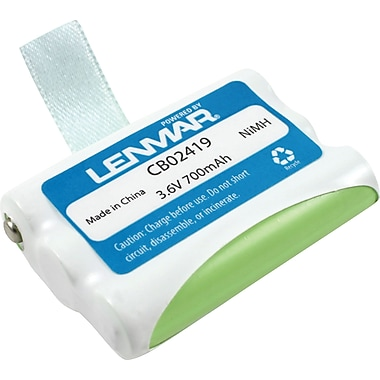 Lenmar® Replacement Battery For AT&T/Lucent Technology/V-Tech Cordless Phones (CB02419)
