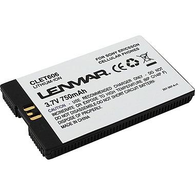 Lenmar Replacement Battery for Sony Ericsson T606 Series Cellular Phones