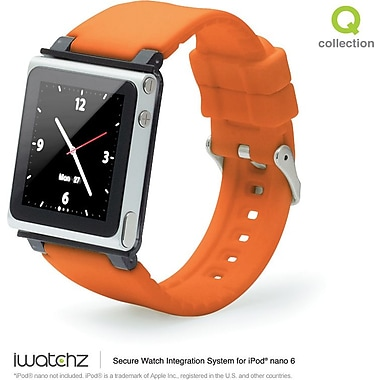 iWatchz Q Series Watchband for iPod Nano, Orange