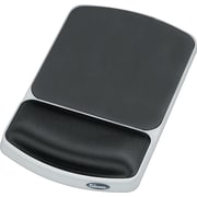 Fellowes Jewel Tones Gel Wrist Rest and Mouse Pad, Platinum