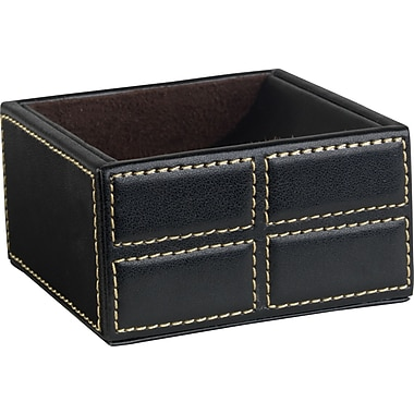 Staples® Mission Faux Leather Clip Holder