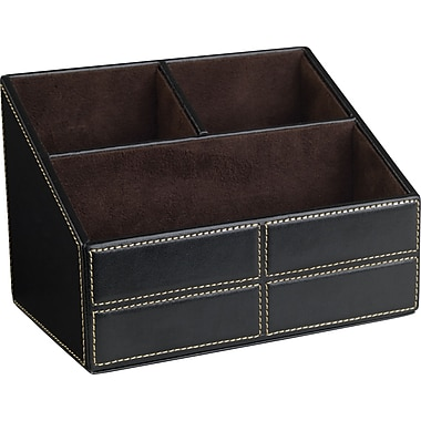 Staples® Mission Faux Leather Desktop Organizer