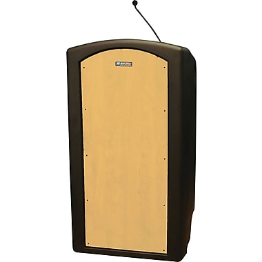 Amplivox Pinnacle Full Height Lecterns with Built-in Dynamic Gooseneck Mic (Maple)