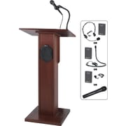 Amplivox Wireless Elite Solid Hard Wood Lectern (Mahogany)