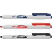 Staples Remarx™ Dry-Erase Retractable Markers, Bullet Tip, Assorted, Dozen (23558-CC)