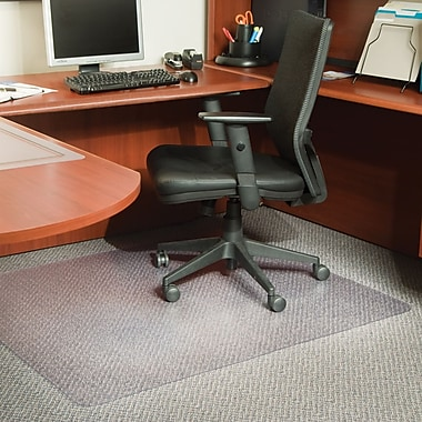Staples® Medium-Pile/Berber Chairmat, Rectangular, 46