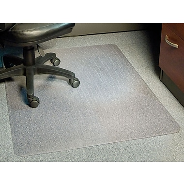 Staples® Low-Pile Chairmat, Rectangular, 46