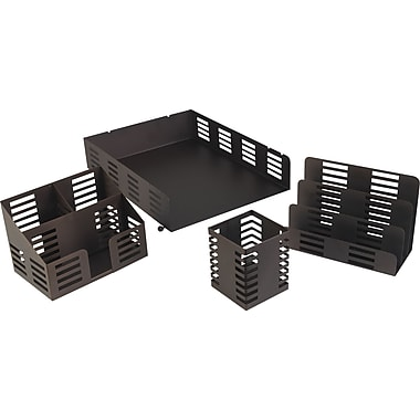 Staples® Punched Metal Desk Accessories