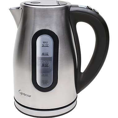 Capresso H2O Pro Cordless Water Kettle, Stainless Steel, 56 oz.
