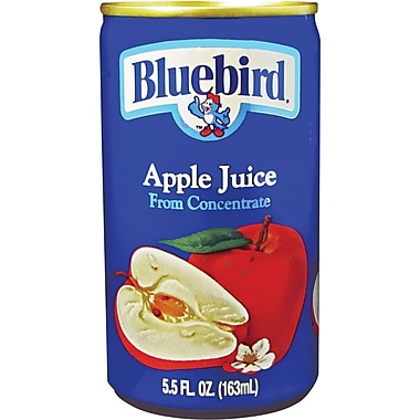 BlueBird 100% Apple Juice, 5.5 oz. Cans, 48/Case