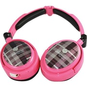 Able Planet XNC230 True Fidelity® Foldable Active Noise Canceling Headphones w/ Linx Audio®, Pink