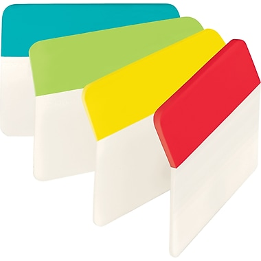Post-it® 2in. Angled Durable Tabs, Assorted Standard Color Bars, 24 Tabs/Pack