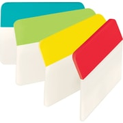 "Post-it® 2"" Angled Durable Tabs, Assorted Standard Color Bars, 24 Tabs/Pack"