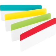 "Post-it® 3"" Durable Filing Tabs, Assorted Primary Colors, 24 Tabs/Pack"