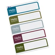 "Avery® Print-or-Write Name Tags, Assorted Muted Colors, 1"" x 3 3/4"", 100/Pk"