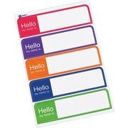 Avery® Mini Flexible Print-or-Write Name Badge Labels, Assorted Neon Colors, 1 x 3 3/4, 100/Pk