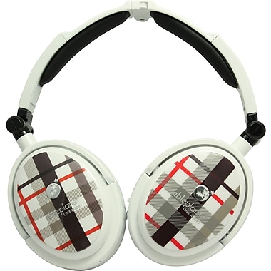 Able Planet XNC230 True Fidelity® Foldable Active Noise Canceling Headphones w/ Linx Audio®, White