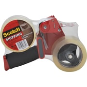 "Scotch Commercial Grade Shipping Packing Tape with Dispenser, 1.88"" x 54.6 yds, Clear, 2/Pack"