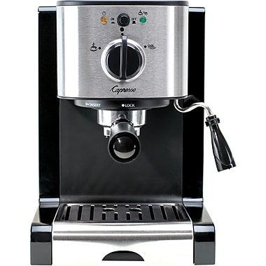 Capresso EC100 Pump Espresso and Cappuccino Machine, Black/Stainless Steel