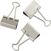 "Staples Satin Silver Metal Binder Clips, Medium, 1 1/4"" Size with 5/8"" Capacity, 24/Pack (21600)"