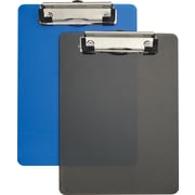 "Staples Plastic Memo Clipboards, Black & Blue, 6"" x 9"", 2/Pack (21423)"