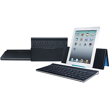 Logitech Bluetooth® Wireless Tablet Keyboard and Keyboard Case for the New iPad®