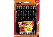 Bic BU3 Retractable Ballpoint Pens, Medium 1.0mm, Black, 18/Pack