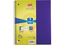 Staples® Accel Durable Poly Cover Notebook, Wide Ruled, Purple, 8' x 10-1/2'