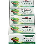 Trident Layers™ Sugar-Free Gum, Green Apple and Golden Pineapple, 12 Packs/Box