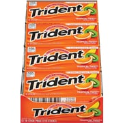 Trident® Sugar-Free Gum, Tropical Twist, 12 Packs/Box (AMC6195800)