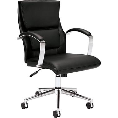 basyx by HON VL106SB11 Executive Mid-Back Chair, Black