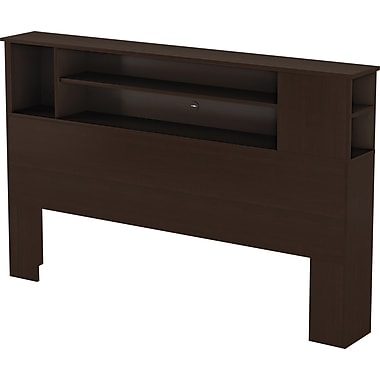 South Shore™ Element Loft Queen Size Bookcase Headboard, Chocolate