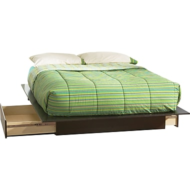 South Shore™ Element Loft Full or Queen Size Platform Bed, Chocolate