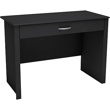 South Shore Work ID Dorm Laptop Computer Desk, Black