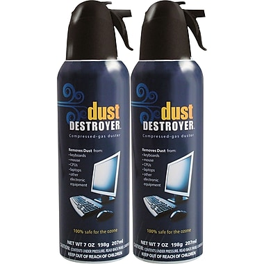 dust destroyer compressed air 7oz 2 pack staples. Black Bedroom Furniture Sets. Home Design Ideas